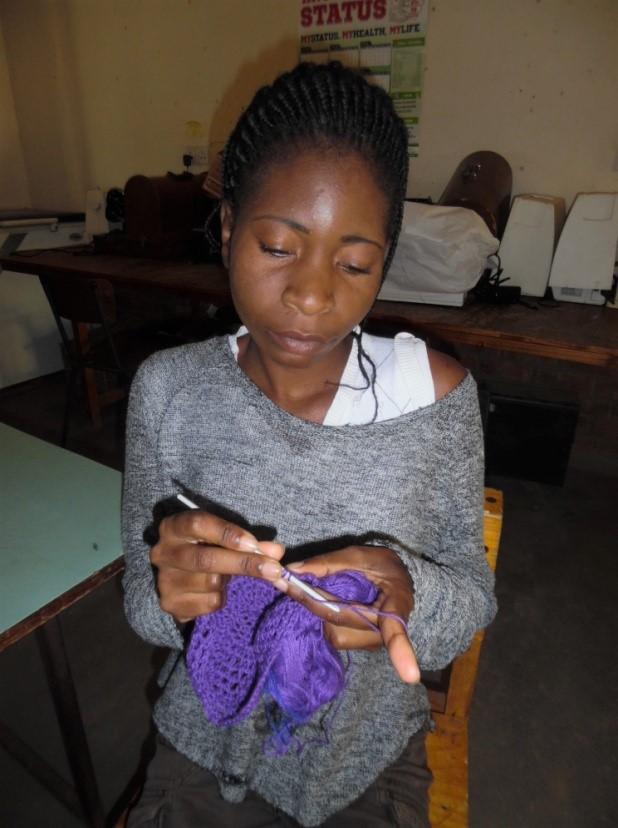Nyasha working at NZEVE 📷 Selina Mlambo