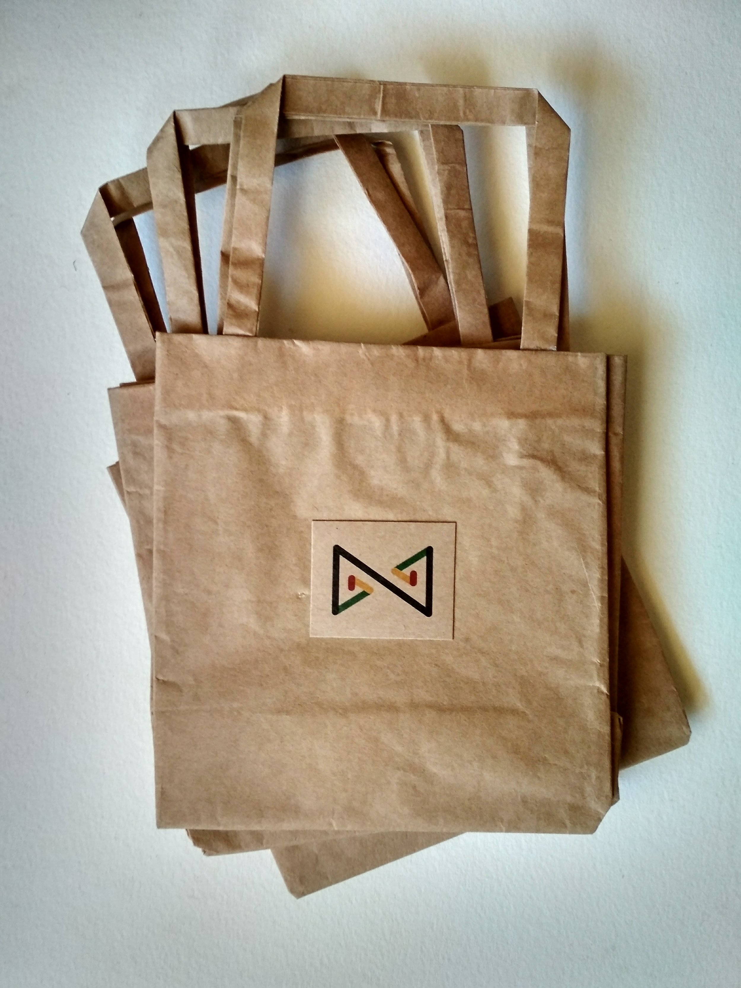 Prototype paper bags from NZEVE for our Zimbowties