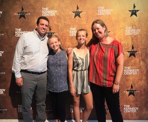 The Ellis family: (Left to right) Jesse, Harper, Paige and Anna