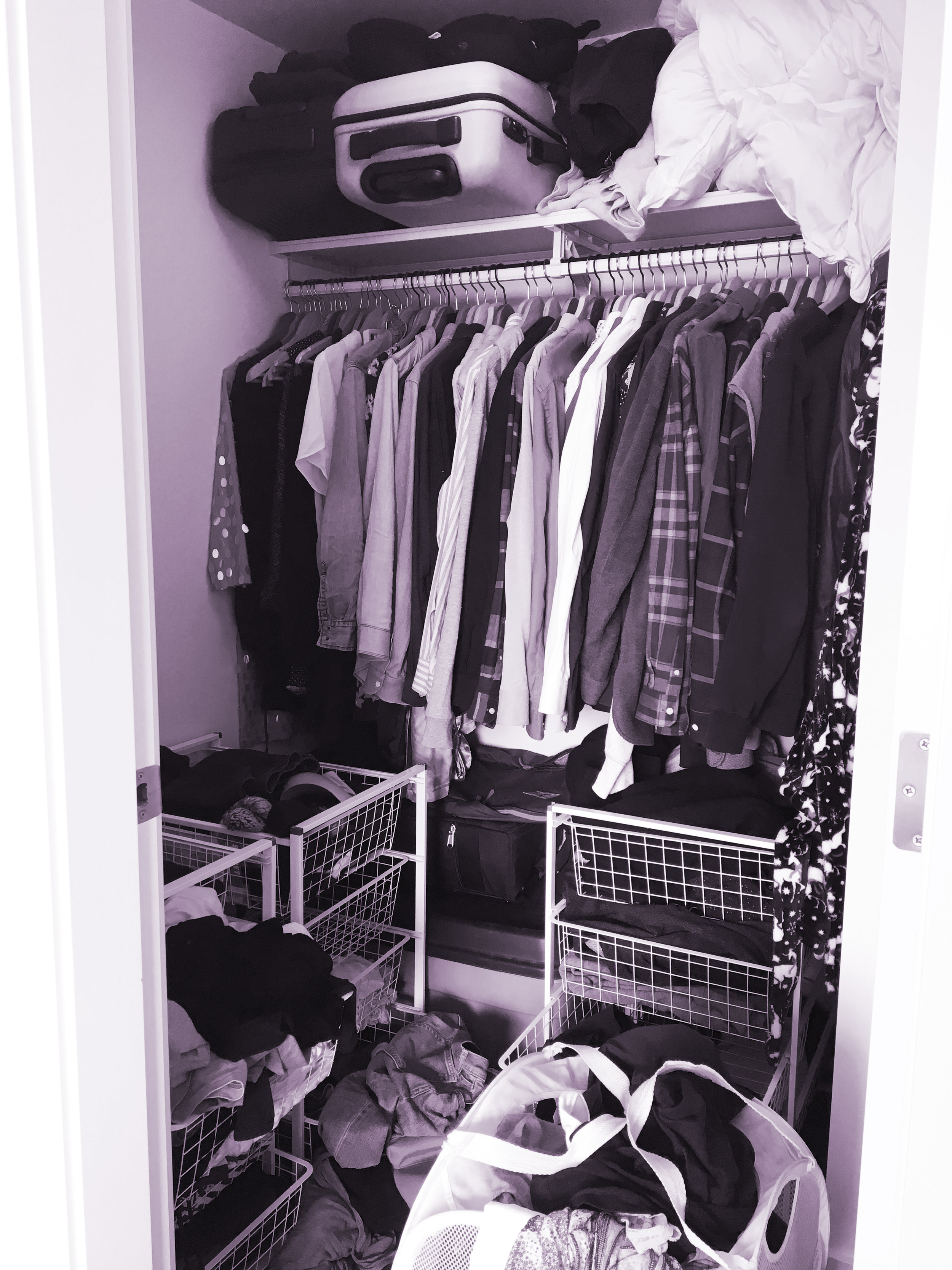 THE FUNKY FRESH / CLOSET MAKEOVER BEFORE