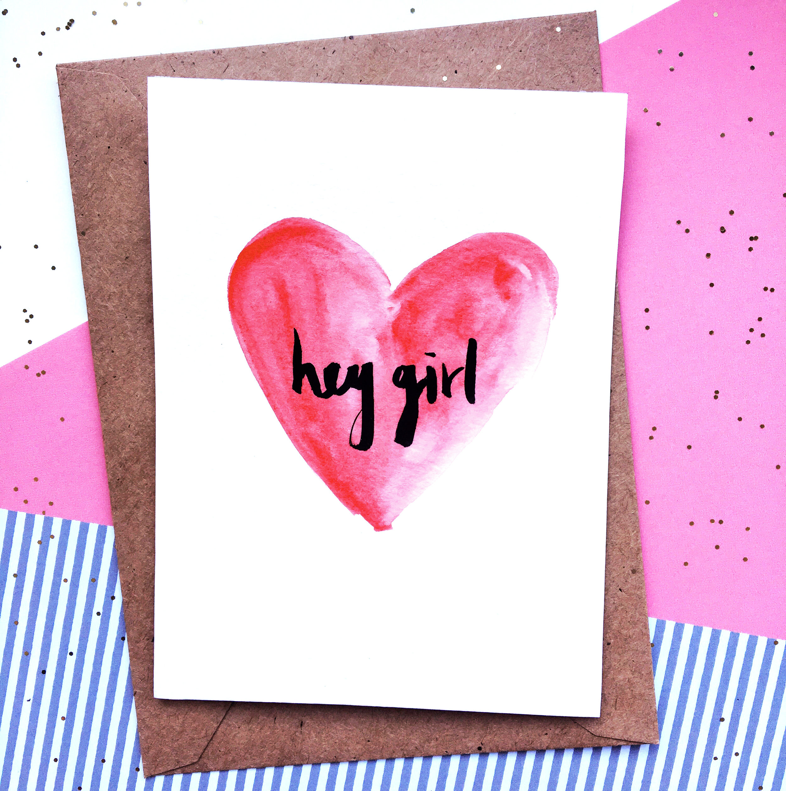 THE FUNKY FRESH / HEY GIRL VALENTINES CARD