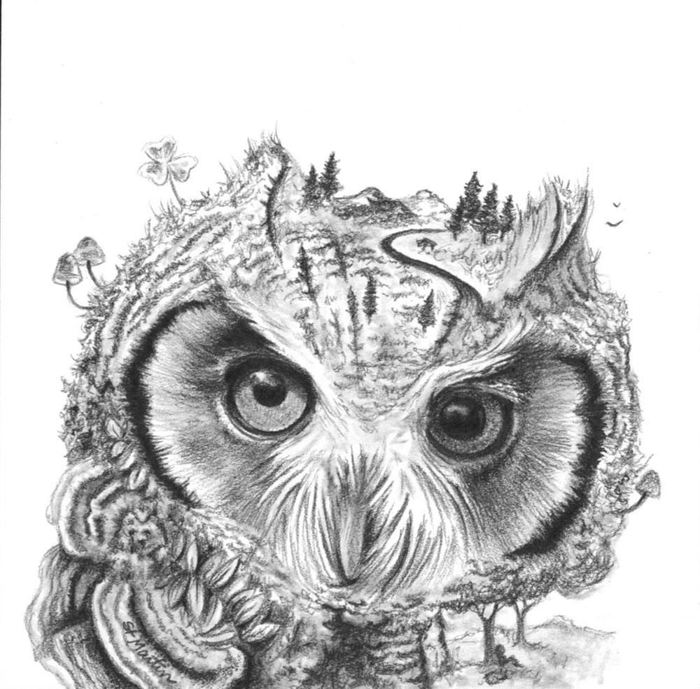 Mini Owl 4 x 4 - for Changelings - Corina St Martin.jpg
