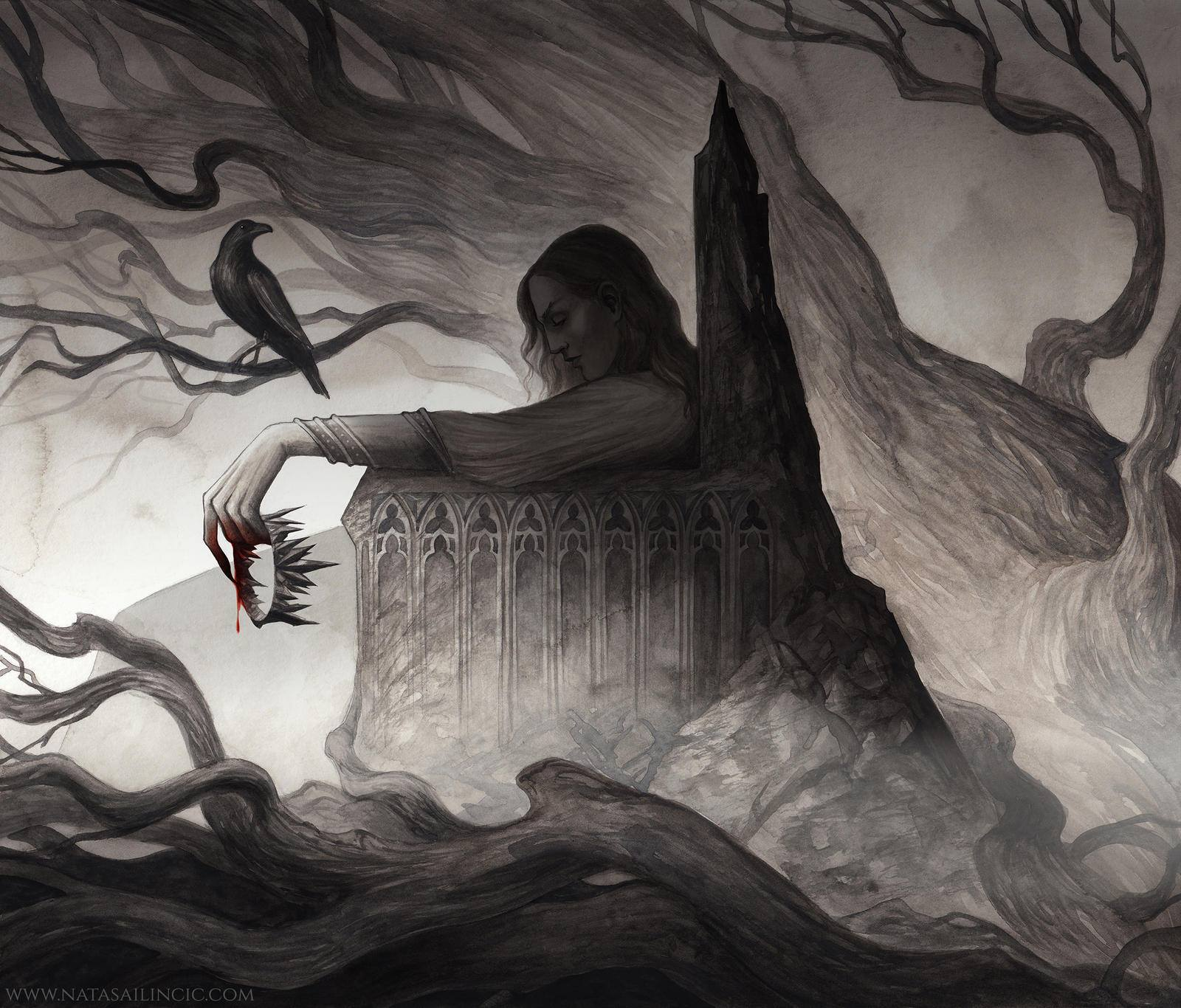 Nataša Ilinčić - The Raven's Ballad: A Retelling of the Swan Princess (Otherworld Book 5) by Emma Hamm