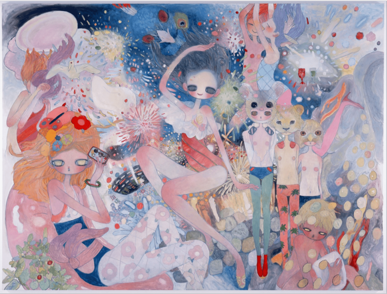 """""""The Adventure Inside"""" - Oil on canvas by Aya Takano"""