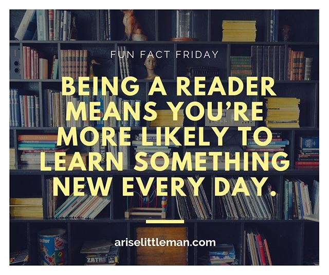 Professor Anne E. Cunningham wrote a research paper and discovered that reading frequently does actually make you smarter. Not only does it help you retain knowledge, but it helps you remember that knowledge later on in life! Pick up your child's next read today at the #linkinbio. #AriseLittleMan
