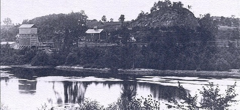 1910 Image of Stark's Knob courtesy Darryl Dumas Collection