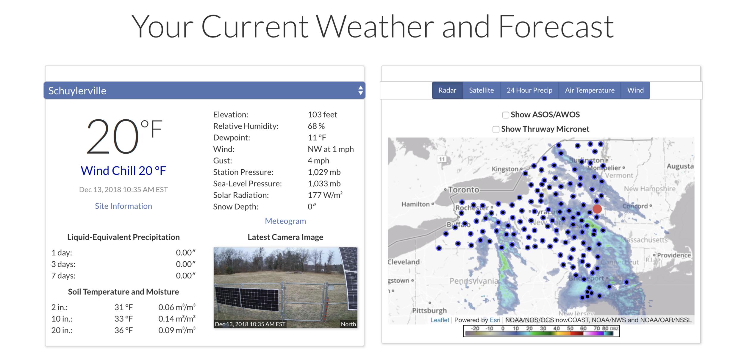 Hudson Crossing Weather Screenshot