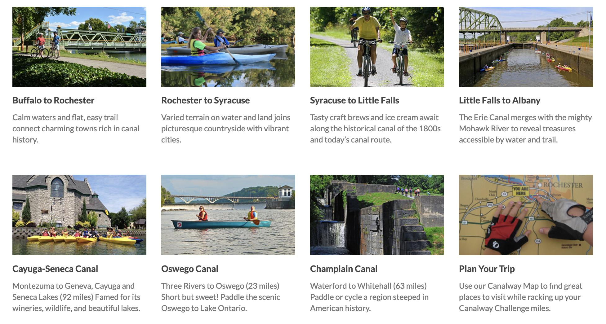 Canalway Regions