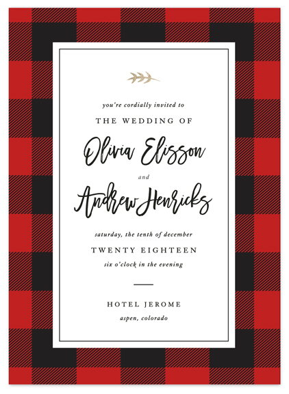 Buffalo Plaid Invitation
