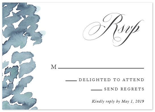Watercolor Marks RSVP