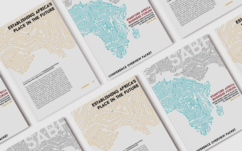 Stanford Africa Business Forum   Visual Brand Development   2019   InDesign, Sketch