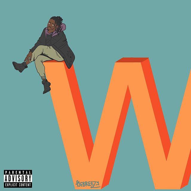 "Album art for @d_gebreezy ""Never Take Ls"" available on Apple Music, Spotify and Soundcloud - - - - - - - #albumcover #gebreezy #illustration #design #albumart #music #rap #hiphop #winning #nevertakeLs"