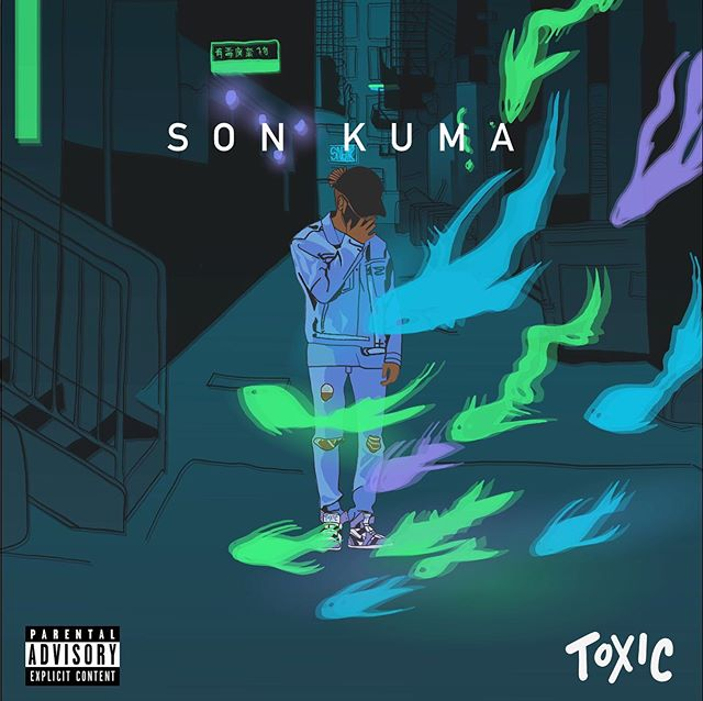 Whipped this up for @sonkuma latest single coming out later this month 🔥🔥 - - - - - - - - - - #albumart #artwork #toxic #instaart #instaartist #illustrator #illustration #neon #nightmare