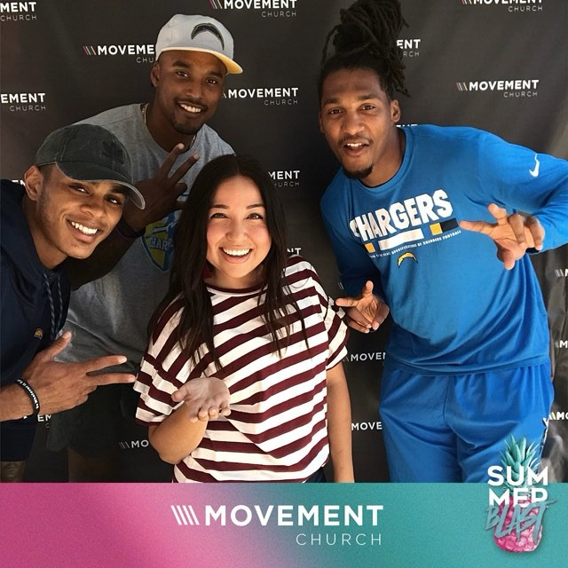We had the best time at @theocmovement's #summerblast with some of the @Chargers players!
