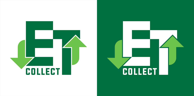 Logo positiivne ja negatiivne (pööratud värvidega) versioon.  Positive and negative (inverted colours) versions of the logo.