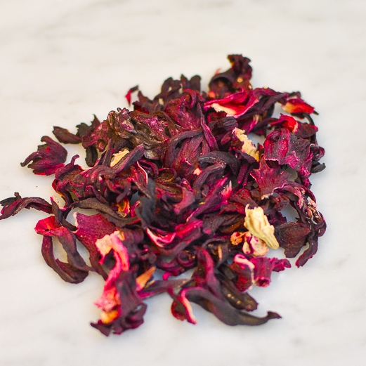 Hibiscus Flower - Herbal tea brewed with hibiscus flower is the base of several of our beverages.  This refreshingly tart tea comes with the added benefits of vitamin C and antioxidants.  But we just think it tastes awesome!