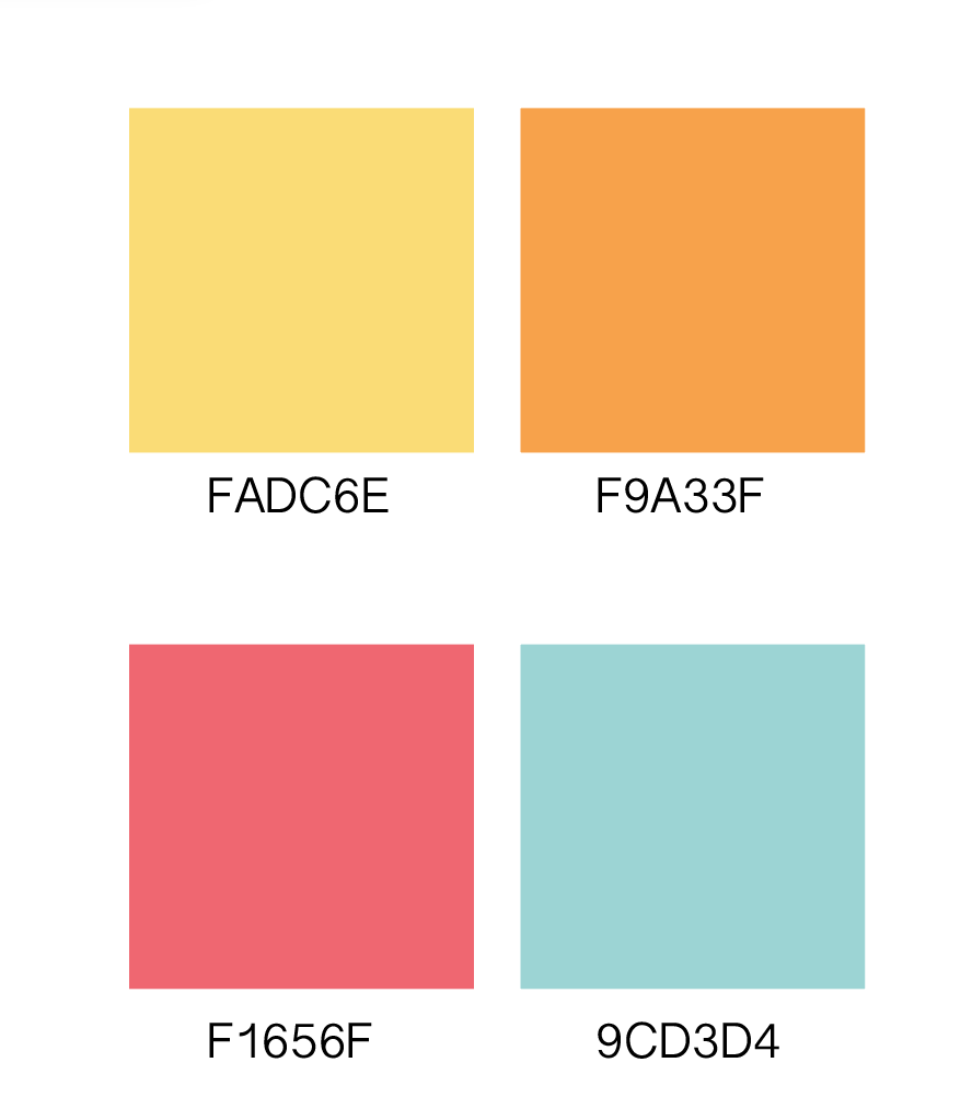 Proposed Color Scheme: - Approval rate score: 87% of teachers, parents and designers leaned for a more softer pastel color scheme. This pallet reflected company's target market as well as core values of nurturing, care, approachability and safety.