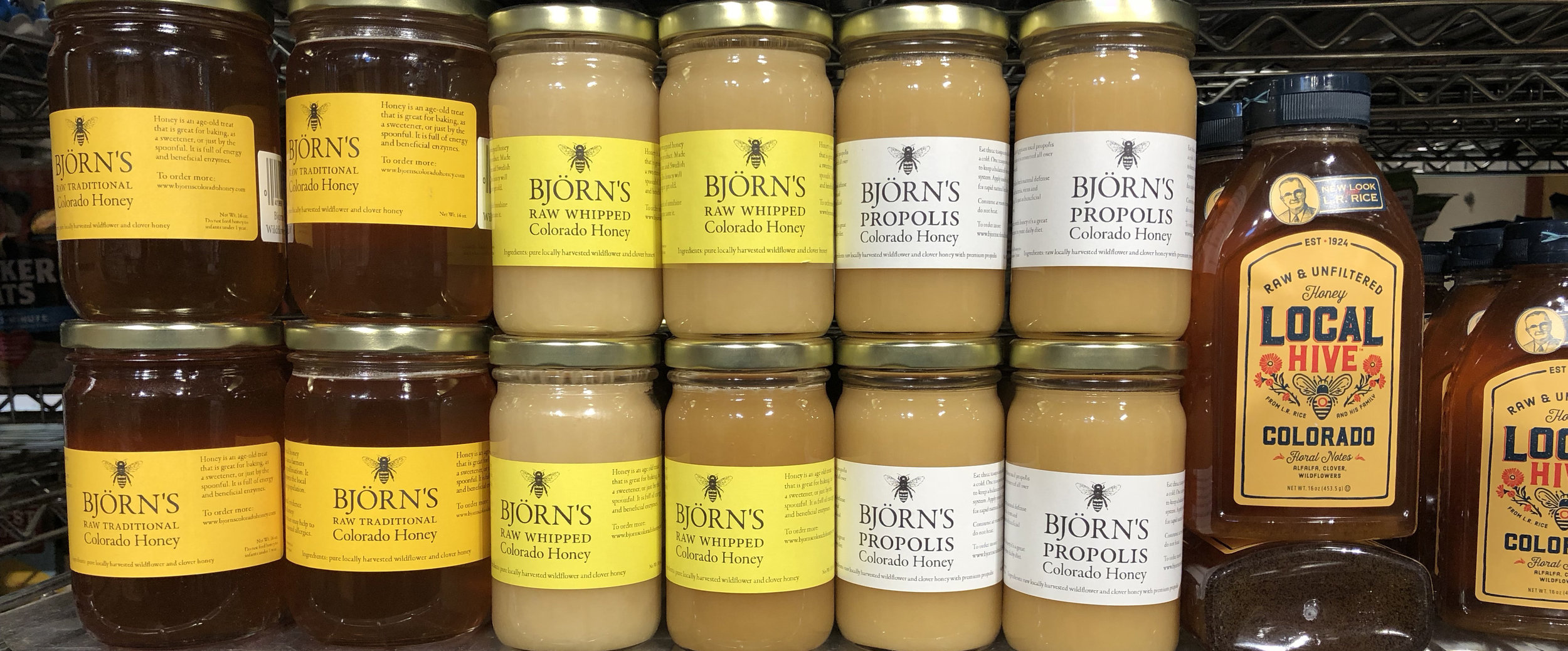 Colorado Honey: Enjoy the flavor of Colorado bees. Or something like that.