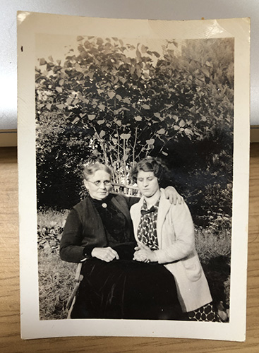 On the right: Chef Jamey Fader's grandmother, Elizabeth Kiernan Brown.