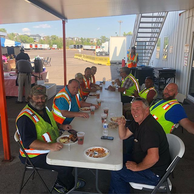 Day one of Driver Appreciation was a success! Great food, great company and great free swag 🙌 stop by again today for lunch and giveaways
