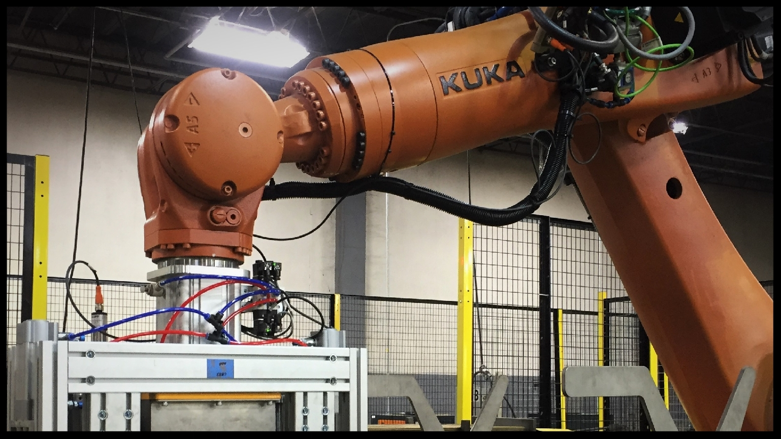 High Handling-Capacity Robotic Solutions - Industrial robotics installations often involve high-capacity payloads with hazardous tooling. These robotic work cells must be enclosed, with automatic worker safety precautions such as light curtains to stop the process when triggered.