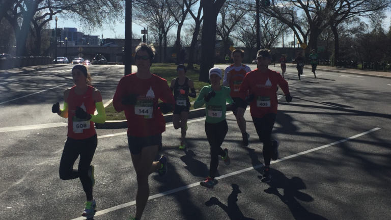 2017 St. Pat's 10k in Washington DC. Ran a 36:42 and came in 3rd among the women.
