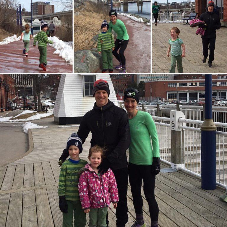 Fun run with the family at the 2017 St. Paddy's Day Run in Saint John