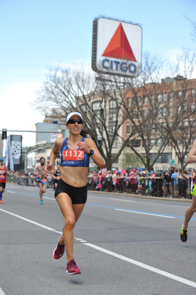 It's the iconic Citgo sign, which means one mile to go in the Boston Marathon!