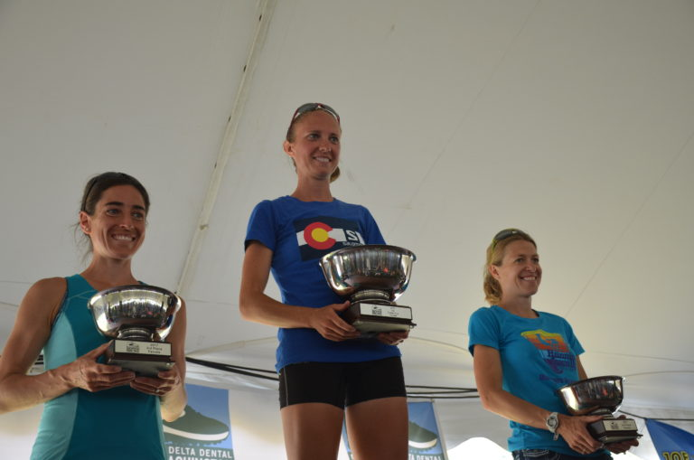 Made the podium in my first mountain race and made many new friends as well, including these two amazing women: Shannon Paine (middle) and Brandy Erholtz (right)!