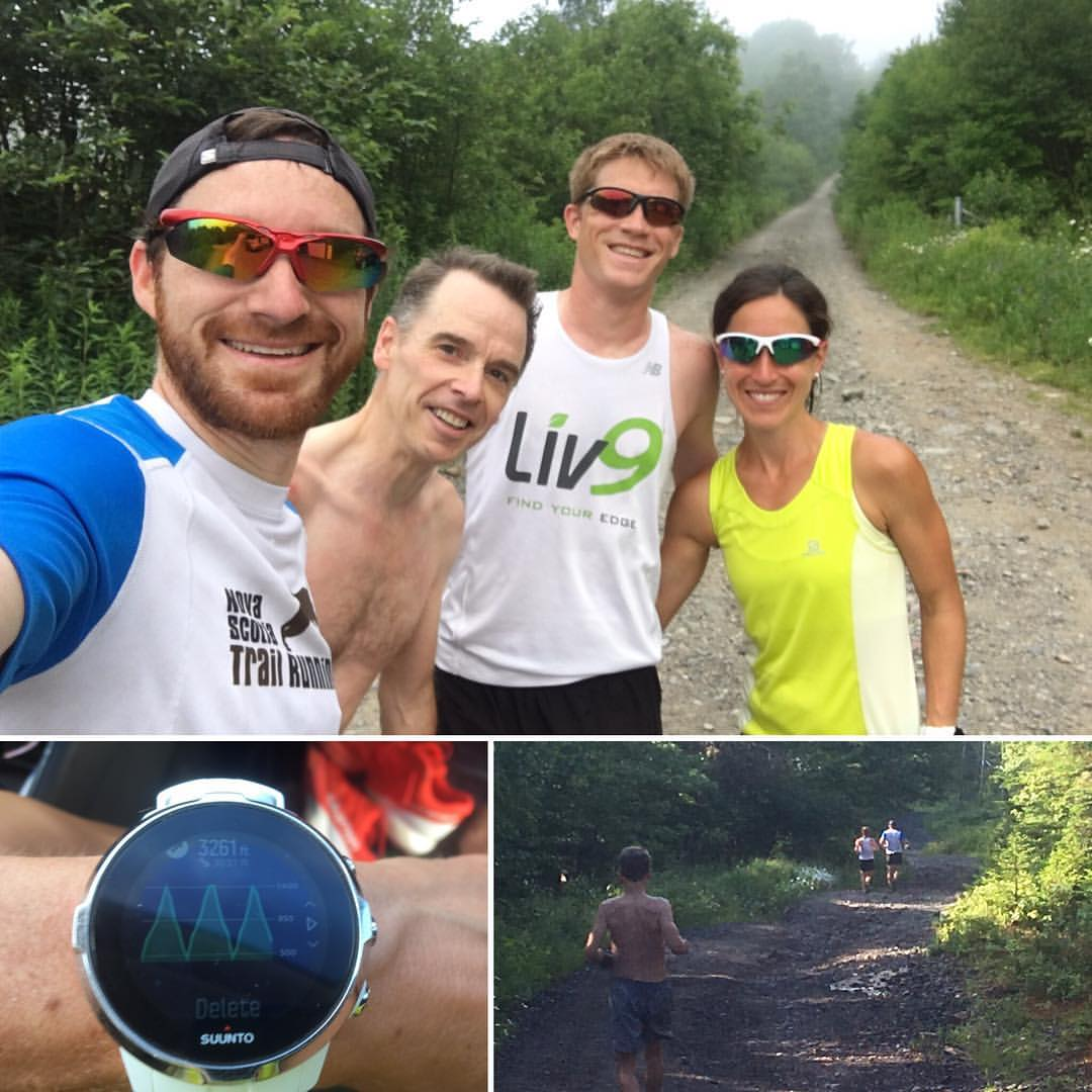 Hill repeats at Mount Champlain with Nat, Glen and Ryan