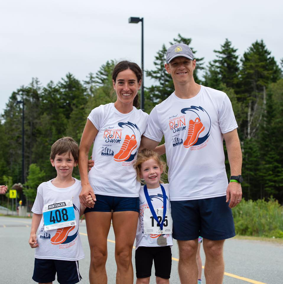 Family pic at our charity running event one week prior to the marathon