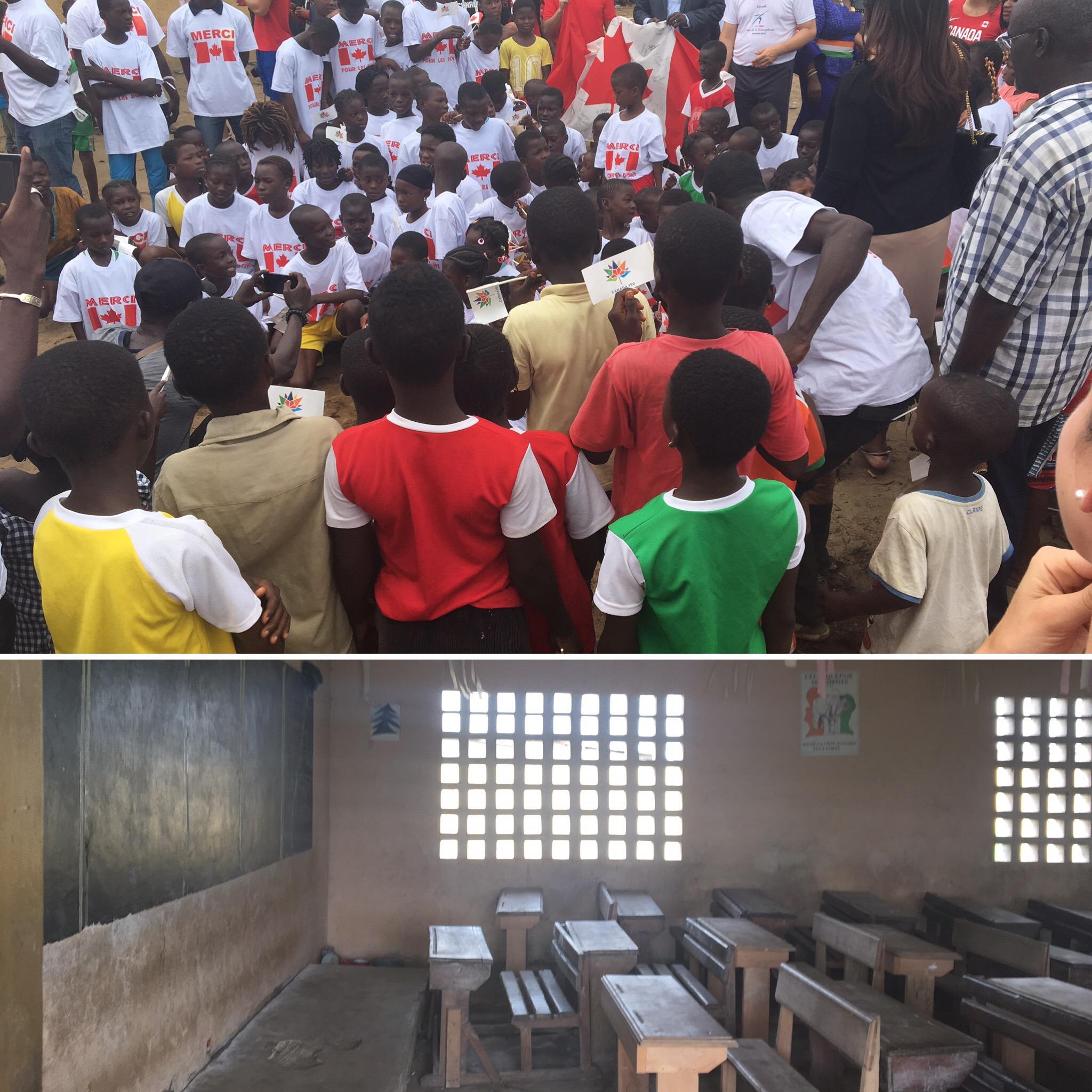 Visit to a local school in Grand Bassam