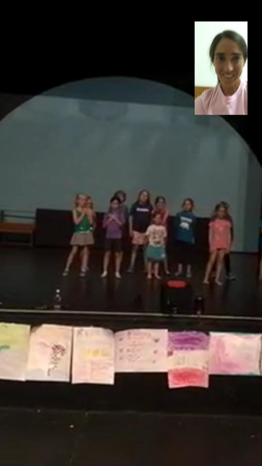 Watching Ava's recital with the family from Italy through FaceTime