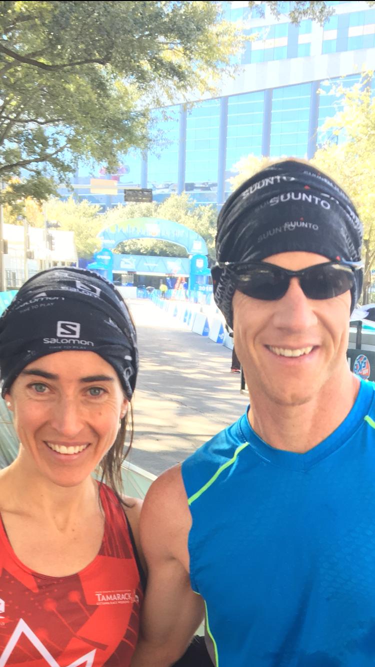 Finish Line of the Houston Half Marathon