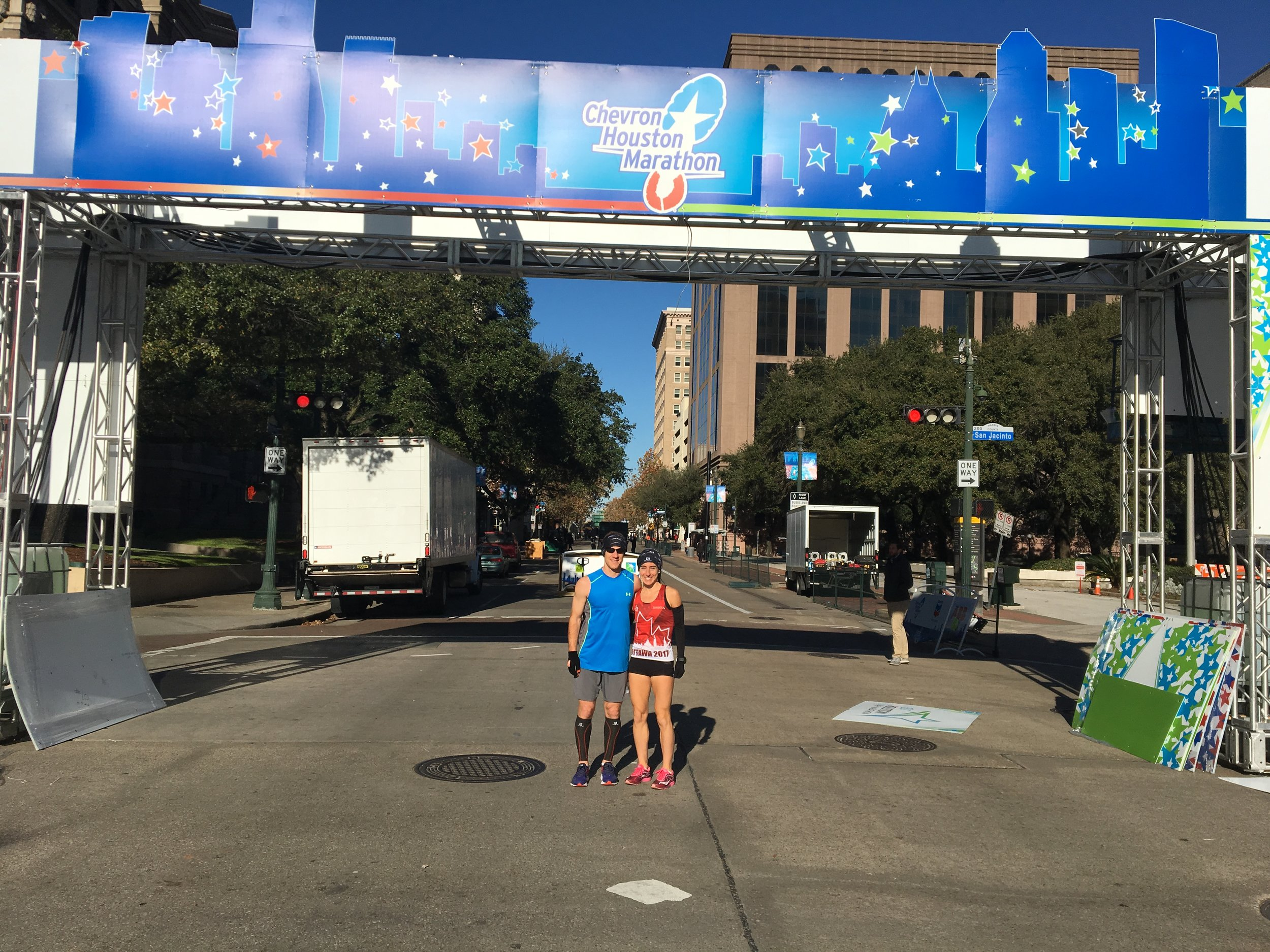 Starting Line of the Houston Half Marathon