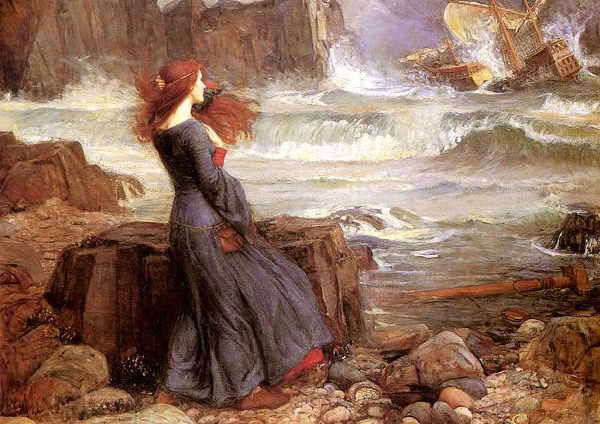 John William Waterhouse: Miranda, The Tempest (1916)