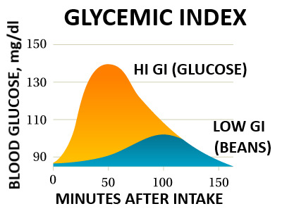 Glycemic Index is a measurement of the impact on elevation of blood sugar that a food causes.