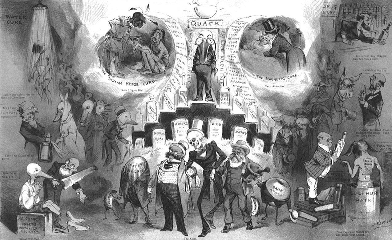 "Joseph Keppler: ""Death's Head Doctors: Many Paths to the Grave...,"" (1881)"