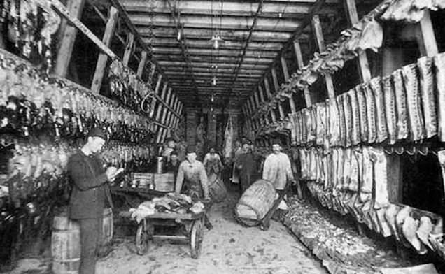 Chicago Union Stockyard workers