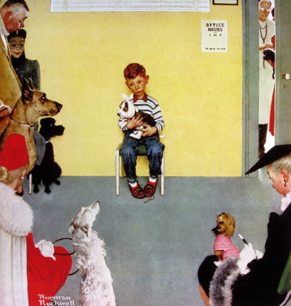 "Norman Rockwell, ""Waiting for the Vet"" (1952)"