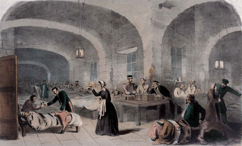 Florence Nightengale in the Military Hospital in Scutari (W. Cargill, 1855)
