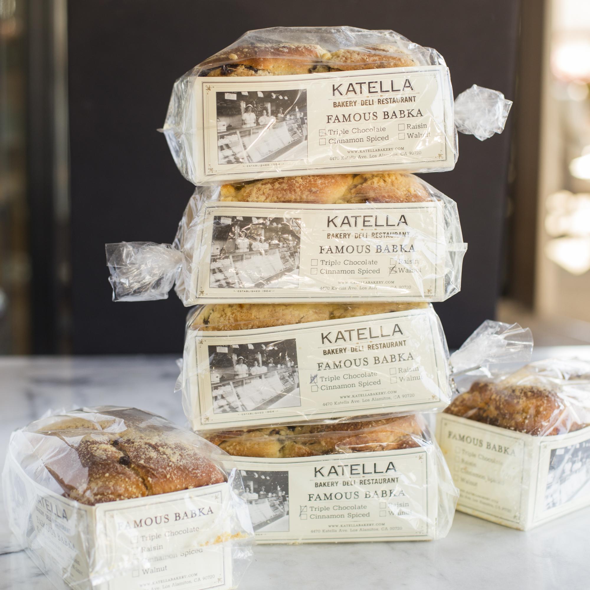 Katella Bakery four babka stacked