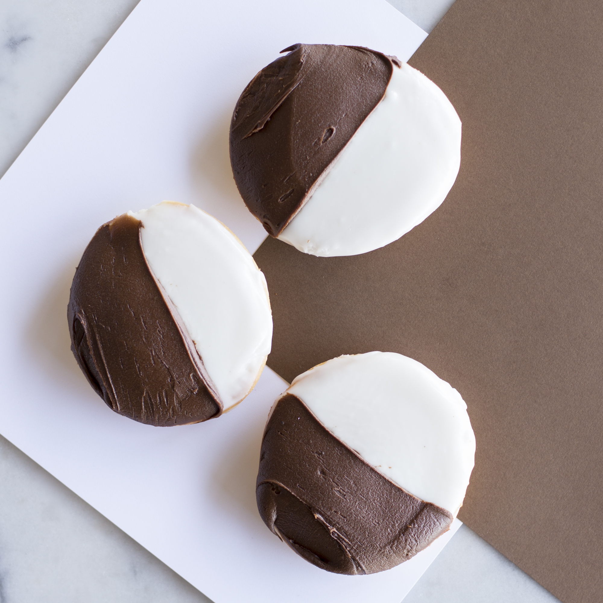 Katella Bakery 3 famous black and white cookies