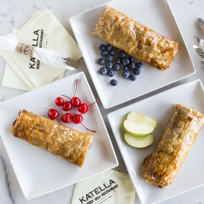 Katella Bakery strudels with assorted fresh fruit