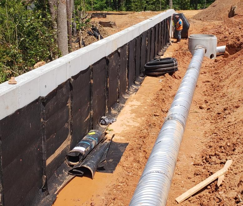 Retaining Wall Drainage Solution