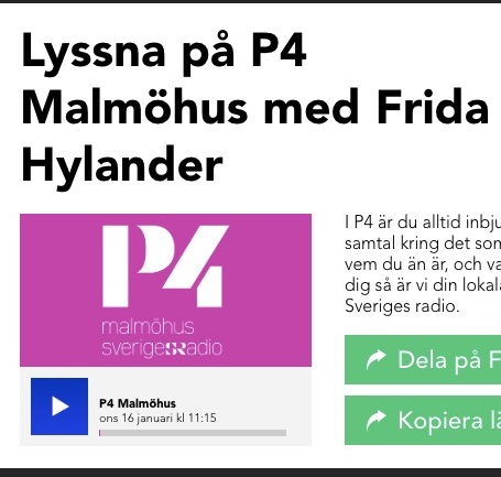 Intervju P4 Malmöhus