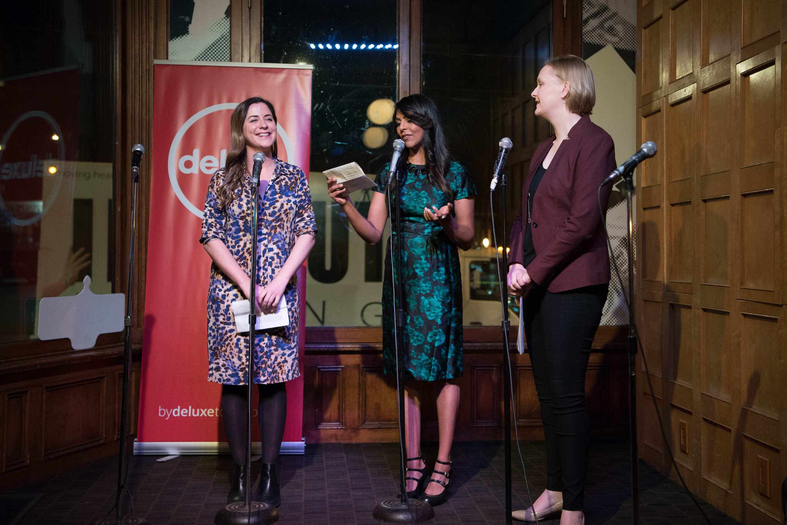 Founding members Lauren Mackinlay, Farah Merani and Ciara Murphy. (l-r)