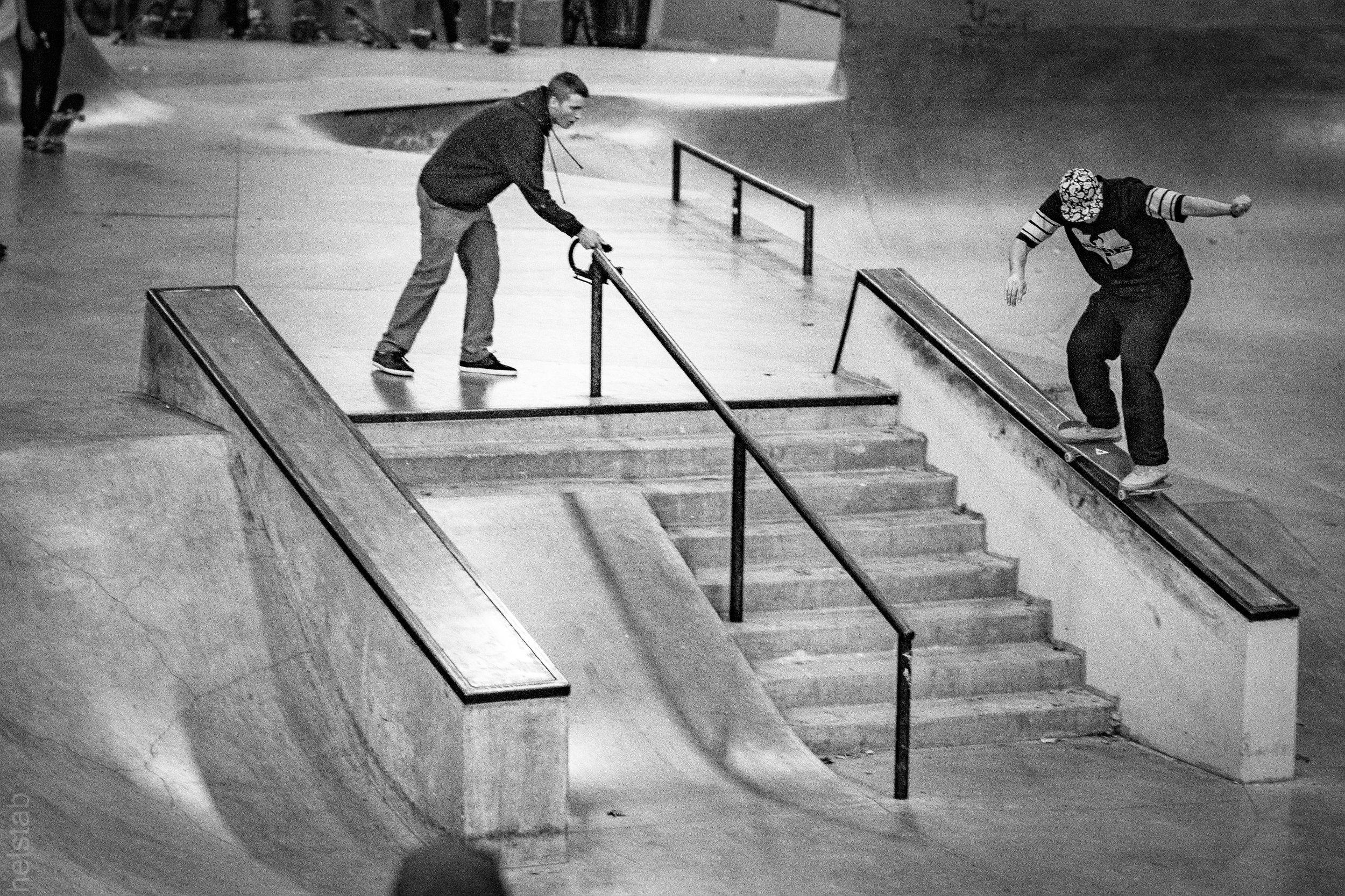 Ashley Marion - Bs 50-50 - Photo. Matt Helstab