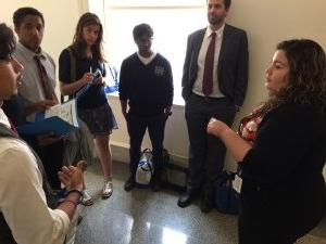 Voicing our concern with Priscila D. Abraham, a staff member from the office of Congresswoman Kathleen Rice