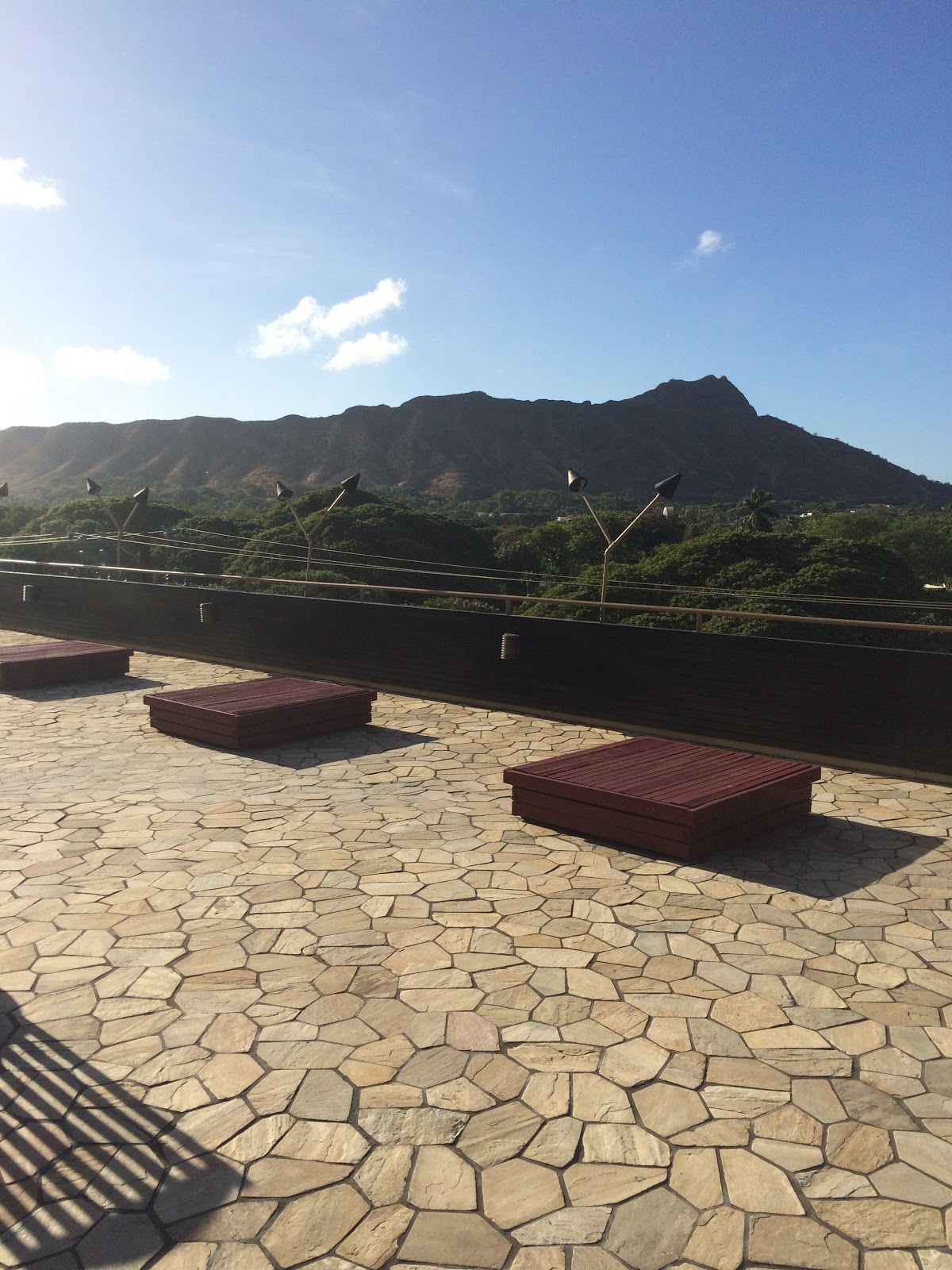 View of Diamond Head Mountain from the Hotel